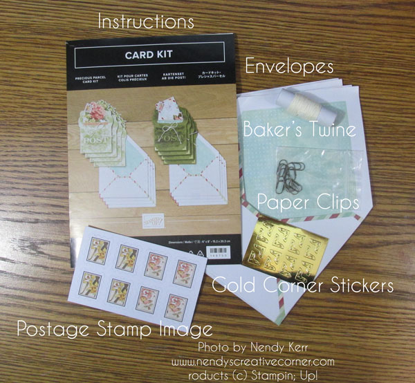 Precious Parcel Card Kit Contents 1