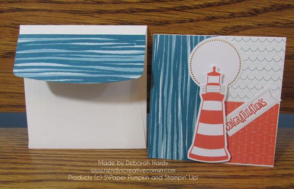 Paper Pumpkin Alternative Lifhthouse card