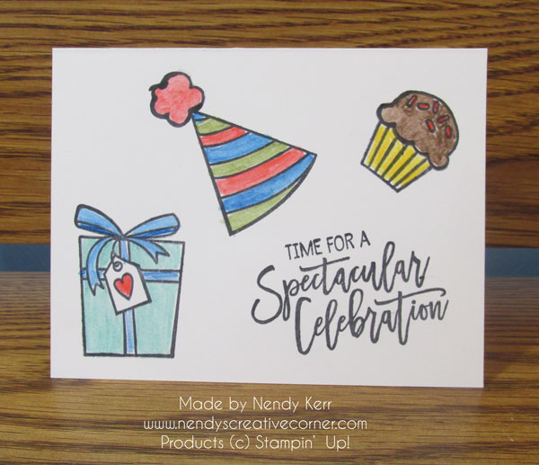 #SimpleStamping Birthday Card