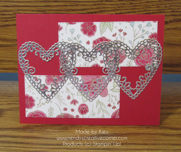 Three Silver Hearts Card