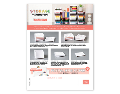 Storage by Stampin' Up! Flyer