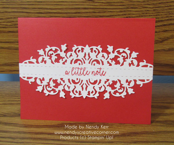 Little Note Lace Card