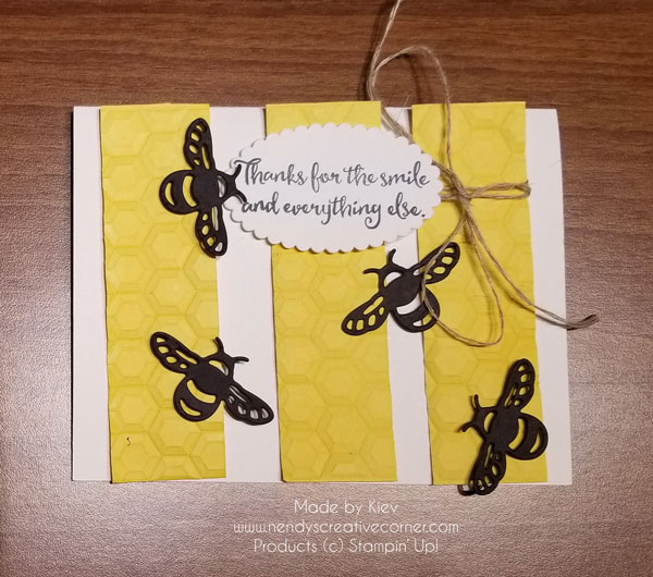 Bees Thank You Card